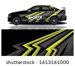 car decal wrap design vector | Shutterstock .eps vector #1613161000