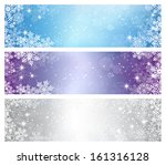 three elegant christmas banners | Shutterstock .eps vector #161316128
