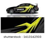car decal wrap design vector | Shutterstock .eps vector #1613162503