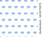 Cute Clouds Pattern With Pink ...