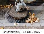 Sweeping Machine Removes Leaves ...