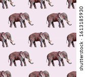 Seamless Pattern With Elephants....