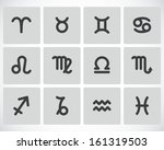 vector black zodiac icons set | Shutterstock .eps vector #161319503