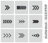vector black arrows icons set | Shutterstock .eps vector #161319509