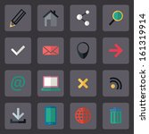 vector flat internet icons set