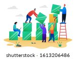 teamwork growing up concept... | Shutterstock .eps vector #1613206486