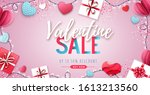 happy valentines day background ... | Shutterstock .eps vector #1613213560