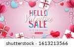 happy valentines day background ... | Shutterstock .eps vector #1613213566