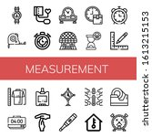 measurement simple icons set.... | Shutterstock .eps vector #1613215153