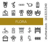 set of flora icons. such as... | Shutterstock .eps vector #1613215240