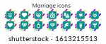 marriage icon set. 14 filled... | Shutterstock .eps vector #1613215513