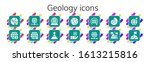 modern simple set of geology...   Shutterstock .eps vector #1613215816