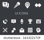 ui icon set. 14 filled ui icons....