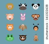 animal face icon vector | Shutterstock .eps vector #161322638