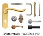 modern door handles. silver and ... | Shutterstock .eps vector #1613231440