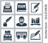 vector writer icons set ... | Shutterstock .eps vector #161323838