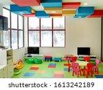 Empty kindergarten room with...