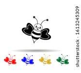 cute bee multi color style icon....