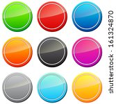 set of icons in different colors | Shutterstock .eps vector #161324870