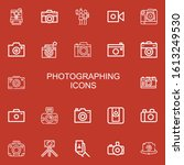 editable 22 photographing icons ... | Shutterstock .eps vector #1613249530