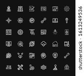 editable 36 settings icons for... | Shutterstock .eps vector #1613249536