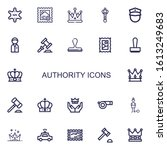 editable 22 authority icons for ...   Shutterstock .eps vector #1613249683