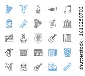 classical icons set. collection ... | Shutterstock .eps vector #1613250703