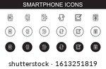 smartphone icons set....
