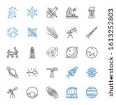 astronomy icons set. collection ...   Shutterstock .eps vector #1613252803