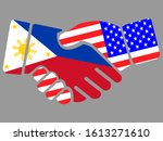 Philippines And Usa Flags...