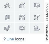 web design icon set and domain...