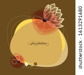 floral greeting card  cute... | Shutterstock .eps vector #1613291680