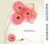valentine's day bouquet. pink... | Shutterstock .eps vector #1613291896