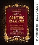 decorative vintage royal floral ... | Shutterstock .eps vector #1613292319