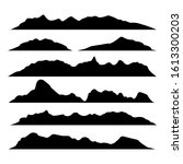silhouettes of mountains on a... | Shutterstock .eps vector #1613300203