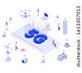modern flat design isometric... | Shutterstock .eps vector #1613307013