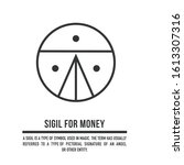sigil for money. a stylized... | Shutterstock .eps vector #1613307316