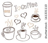 collection of hand drawn... | Shutterstock .eps vector #161331110