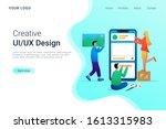 creative ui ux design process... | Shutterstock .eps vector #1613315983