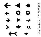 set of black vector arrows.... | Shutterstock .eps vector #1613335936