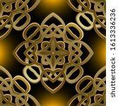 gold 3d damask vector seamless...   Shutterstock .eps vector #1613336236