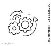process management icon ... | Shutterstock .eps vector #1613336290