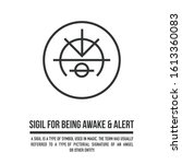 sigil for being awake and alert ... | Shutterstock .eps vector #1613360083