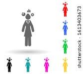 businesswoman  thinking multi...