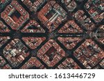 Barcelona Street Aerial View...
