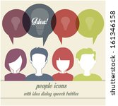 people icons with dialog idea... | Shutterstock .eps vector #161346158
