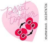 cute heart cartoon character... | Shutterstock .eps vector #1613476726