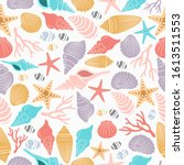 Sea Life Seamless Pattern With ...
