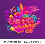 Carnival Party Invitation Card. ...