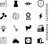 power vector icon set such as ... | Shutterstock .eps vector #1613534143